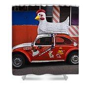 Cowboy Chicken Shower Curtain