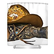 Cowboy Hat And Boot Shower Curtain
