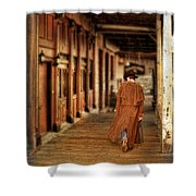 Cowboy In Old West Town Shower Curtain