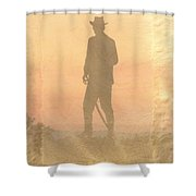 Cowboy On The Hill Shower Curtain