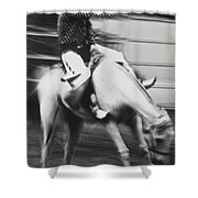 Cowboy Riding Bucking Horse  Shower Curtain by Garry Gay