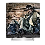 Cowboy Stare-down Shower Curtain