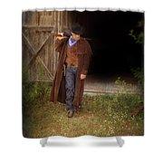 Cowboy With Guns Shower Curtain