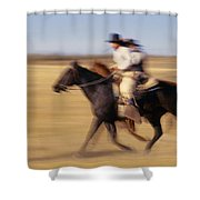 Cowboys Racing Horses Shower Curtain