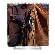 Cowboys Saddle And Chaps Detail Shower Curtain