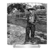 Cowgirl, C1906 Shower Curtain