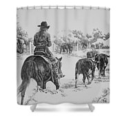 Cowgirls Are Cowboys Too Shower Curtain