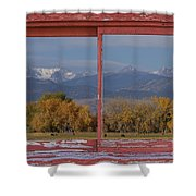 Cows Life Colorado Autumn Rocky Mountains Picture Window Art Shower Curtain