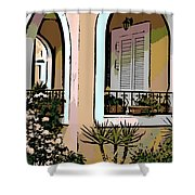 Cozy Arches Shower Curtain