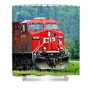 Cp Coal Train Shower Curtain