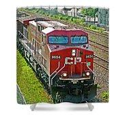 Cp Rail Engine Shower Curtain