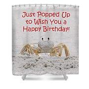 Crab Happy Birthday Shower Curtain