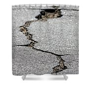 Crack In The Street Shower Curtain