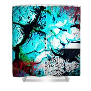 Cracked Blue Mud Shower Curtain