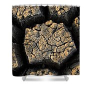 Cracked, Dried Out Mud, Mokolodi Nature Shower Curtain