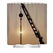Crane At Rest Shower Curtain