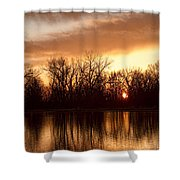 Crane Hollow Sunrise Before The Storm Shower Curtain