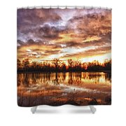Crane Hollow Sunrise Boulder County Colorado Hdr Shower Curtain