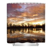 Crane Hollow Sunrise Boulder County Colorado Shower Curtain by James BO  Insogna