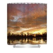 Crane Hollow Sunrise Shower Curtain