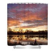 Crane Hollow Sunrise Reflections Shower Curtain
