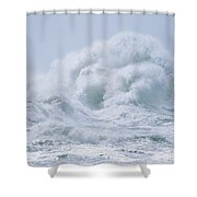 Crashing Backwash Waves At Cape Shower Curtain