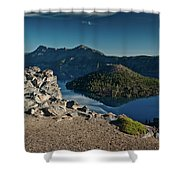 Crater Lake Afternoon Shower Curtain