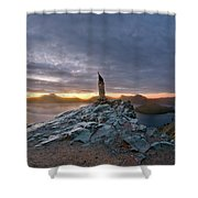 Crater Lake Autumn Dawn Shower Curtain