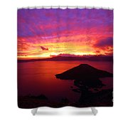 Crater Lake Fire In The Sky Shower Curtain