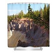 Crater Lake Pinnacles Shower Curtain