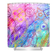 Crazy Flower Garden Shower Curtain