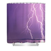 Crazy Night Shower Curtain