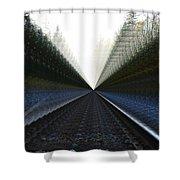 Crazy Tracks Shower Curtain
