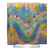 Crazy Waves Shower Curtain