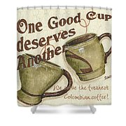 Cream Coffee 2 Shower Curtain