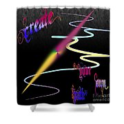 Create Your Own Path Verbally II Shower Curtain
