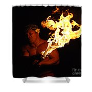 Creating With Fire Shower Curtain