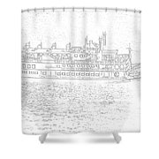 Creole Queen Sketch Shower Curtain