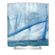Crevasses Created By The Melting Shower Curtain