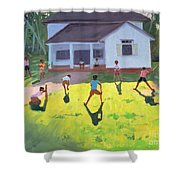 Cricket Shower Curtain by Andrew Macara