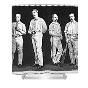 Cricket Players, 1889 Shower Curtain