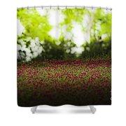 Crimson Clover Shower Curtain
