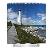 Crisp Point Lighthouse 10 Shower Curtain