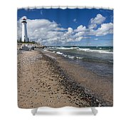 Crisp Point Lighthouse 13 Shower Curtain