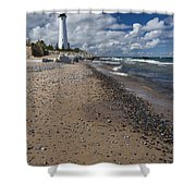 Crisp Point Lighthouse 14 Shower Curtain