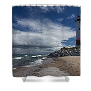 Crisp Point Lighthouse 5 Shower Curtain
