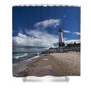 Crisp Point Lighthouse 6 Shower Curtain