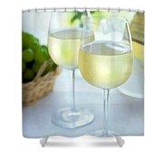 Crisp Whites Shower Curtain by Elaine Plesser