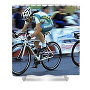 Criterium Bicycle Race 3 Shower Curtain