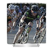 Criterium Bicycle Race 6 Shower Curtain